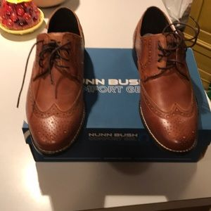 Nunn Bush Nelson dress shoe cognac 8.5 mens NIB